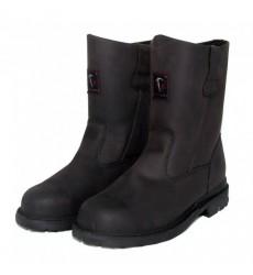 BLACK HAMMER Safety Shoe -High Cut, Slip On & Zip