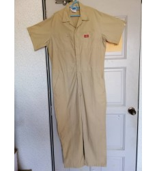Short Sleeve Cotton Coveralls