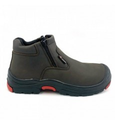 BLACK HAMMER Safety Shoe -Ankle cut and Zip on