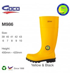 Goco M986 Rubber Safety Boot with Steel Toe Steel Plate